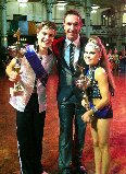 Kalon Badenhorst & Courtney Minnaar with International Dance Teachers Association member and competition judge, Stephen Reece-Buck. Photo: Provided