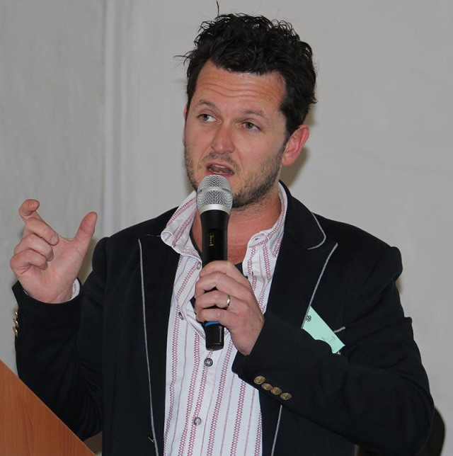 Seth Rotherham from 2oceansvibe spoke about creating radio that is online. Photo: Prelene Singh