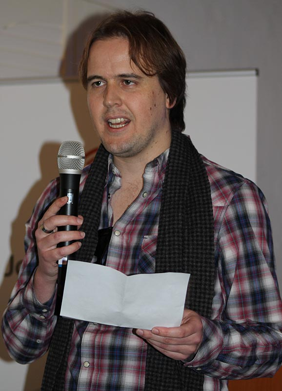 Shaun Dewberry from interwebsradio which is an online radio station discussed the venture into the online sphere of radio listening. Photo: Prelene Singh