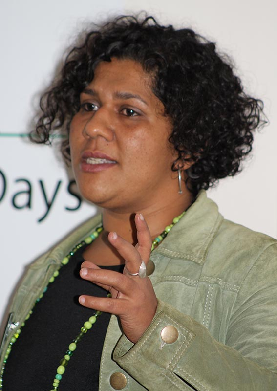 Nina Callaghar from Children's Radio spoke about the aim of the Children's Radio Foundation and what they have achieved thus far in the community around the African continent. Photo: Prelene Singh