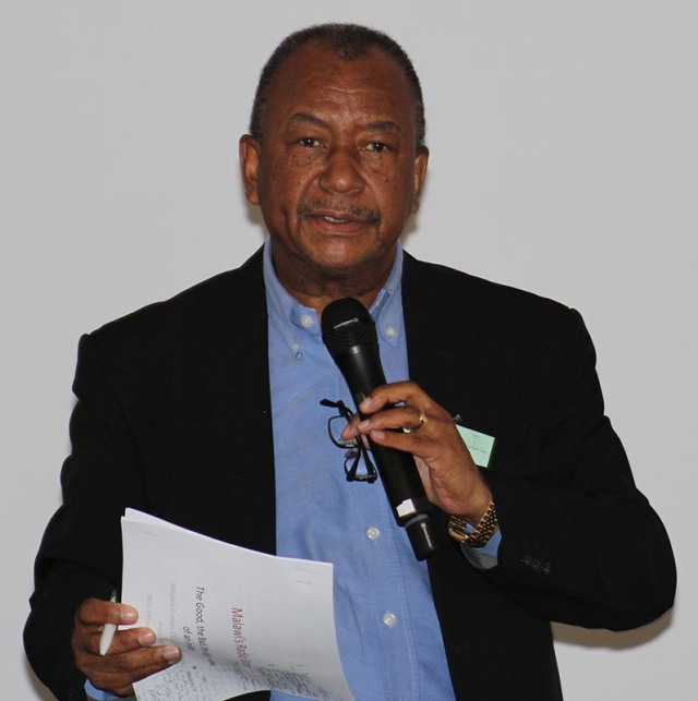 Al Osman, CEO  and Founder of Capital Radio in Malawi speaks to the forum about licensing of radio stations in his company and the private sector. Photo: Prelene Singh