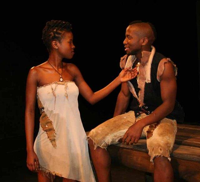 Zewande Bhengu and Lebogang Shikwambane performing the play Fire: Burn at the Nunnery. Photo: Prelene Singh