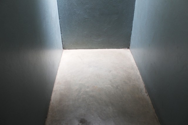 "This is a photo of the replica of the solitary confinement cell. Detainees who were held in these cells say that it was the worst kind of torture. Winnie Mandela said: ""The mind finds it very difficult to adjust to such solitude. It is utter torture...It becomes so difficult to keep sane with absolutely nothing to do that I would actually hunt for ants. If I had an ant or a fly in the cell, I would regard myself as having company for the day."" I stood in this cell and closed the door. If I laid down flat on my back that would be the size of the entire cell. Photo: Prelene Singh"