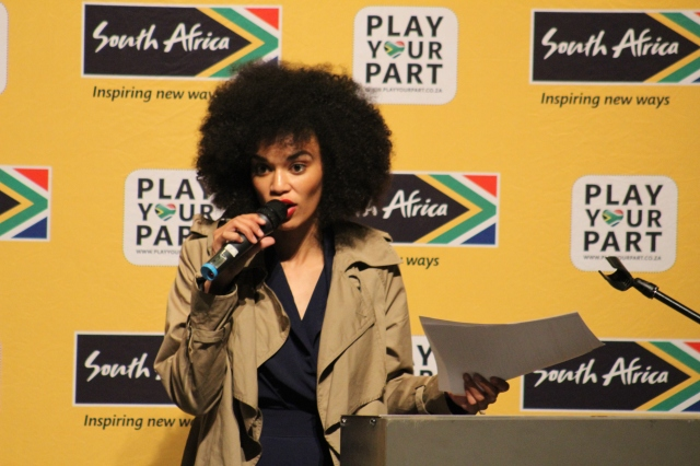 MC Pearl Thusi. Photo: Prelene Singh.